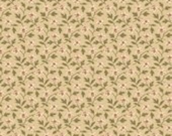 Penelope Floral Tan by the Half Yard