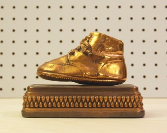 Bronzed Baby Shoe Bookend