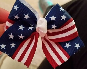 American Flag Boot Bow