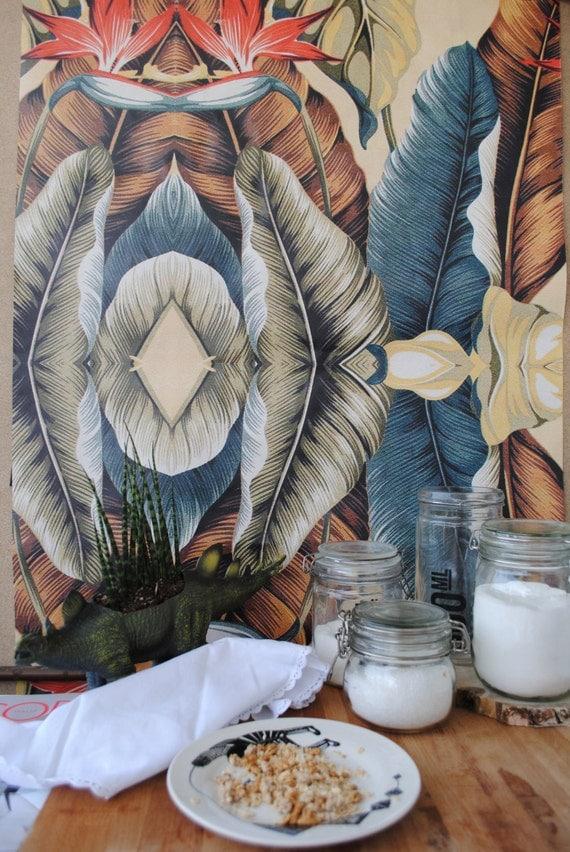 Carta da parati vintage tropicale di wallpapers4beginners su etsy