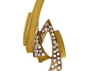 Ladies Omega Slide Pendant Set With CZ In Heavily Plated 14k Gold Pendant Slide