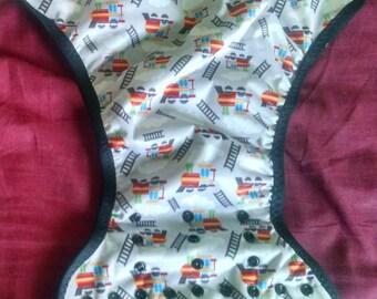 Train cloth diaper