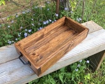 Wooden Crate, Wood Tray, Decorative Tray, Centerpiece
