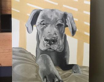 Custom pet portrait, custom dog portrait painting, custom dog art, custom pet painting, pet portrait custom