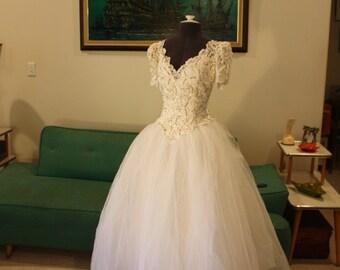 Sale! Vintage House of Bianchi Wedding Dress