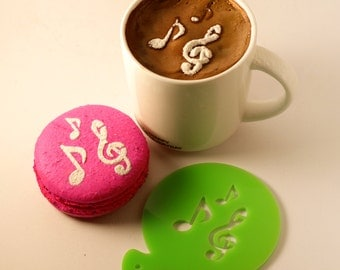 Misic Note Stencil, Coffee Stencil, Cookie Stencil, Custom Stencil