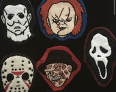 Horror Movie Icon Brooches/Pins