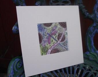 Dragonfly painting,dragonfly art print,mandala art print,dragonfly picture,positive affirmation,beautiful,nature art,zentangle art
