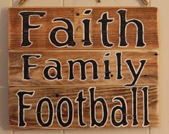 Faith Wall Decor family football | etsy