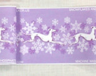 Jane Walker Design Snow Hound Collar Strip Fabric SH-SnowPurple