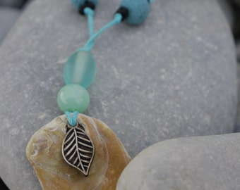 Turquoise Shell Necklace - Jewellery made from beach findings