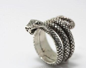 Silver snake ring,Snake Ring Sterling Silver