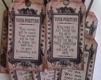 8 Fortune Teller Tags