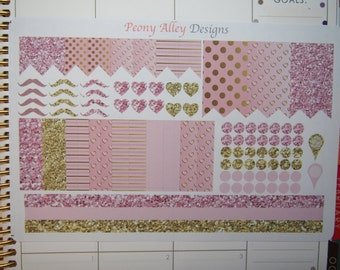 Pale Pink Gold Planner Sticker