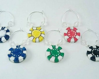 Poker Chip Wine Charms - Made From Cork!