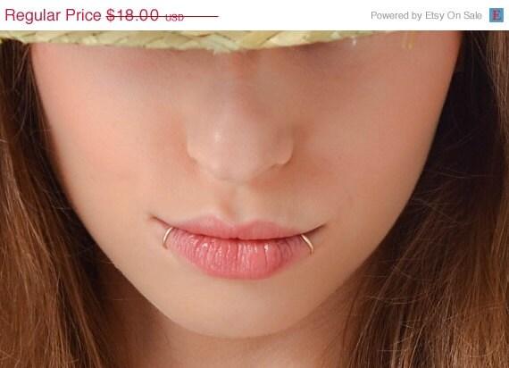 20% OFF Fake Lip Rings Snake Bites Faux lip by JewelsByMoonli