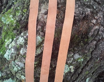 Raw hide leather straps for jewelry making