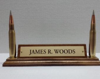 Bullet Name Plate  >  Hunter's Name Plate  >  Military Name Plate  >  Desk Name Plate  >  Shooter's Name Plate  >  Office Decor