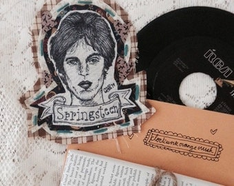 Handmade Bruce Springsteen Potrait Patch (Small)