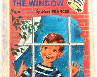 1954 Looking Out The Window child Book vintage Ding Dong Book