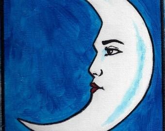 La Luna Hand Painted