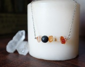 Carnelian and Lava Rock Essential Oil Diffuser Necklace or Bracelet
