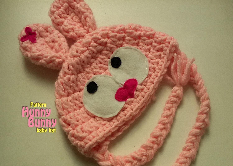 Crochet Bunny Hat With Flower Pattern : Bunny Hat Pattern Crochet Baby Hat Crochet Pattern baby hat