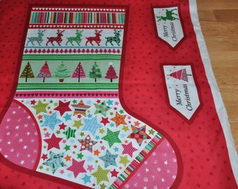 One Novelty Stocking Panel 100% Cotton by Henley Studios