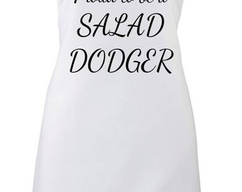 Proud To Be A Salad Dodger Funny Chefs Kitchen Cooking Apron