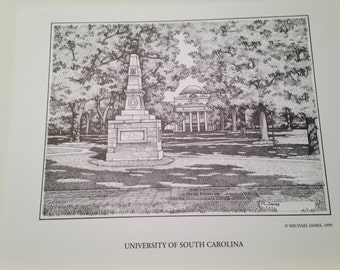 South Carolina 8x10 print of Maxcy Monument