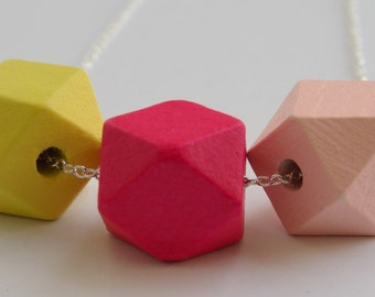 Geometric Wooden Necklace