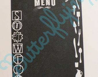 Chalkboard Magnetic Menu Planning