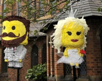 Lego Bride and Groom Wedding Piñata