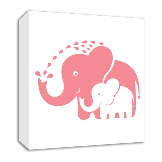 Baby Wall Art Elephant Nursery Decor Kids By Trendywallsquares