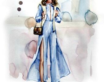Fashion Illustration Print. Bella.b