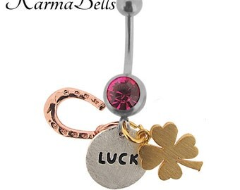 Sterling Silver Karmabell Belly Ring - Luck