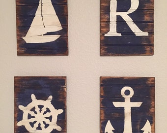 Rustic Nautical wall decor