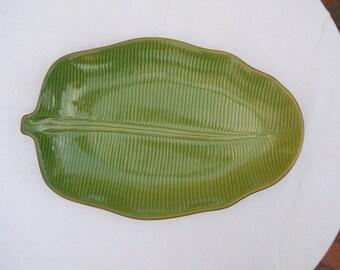 Green Leaf Serving Platter