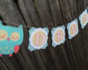 Dream Owl Banner-Bedroom Banner
