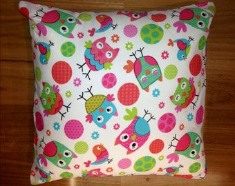 Childs owl cushion cover