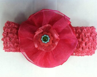 Baby Head-Band (Pink Flower)