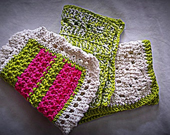 Crocheted Wash Cloths (set of 3)
