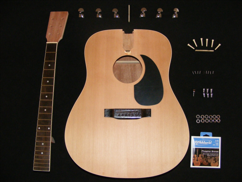 diy acoustic guitar kit by citharaguitars on etsy. Black Bedroom Furniture Sets. Home Design Ideas