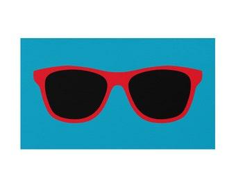 Charming Sunglasses Rug, 2 Color Options, Decor Area Rug, Summer Art, Fun Carpet