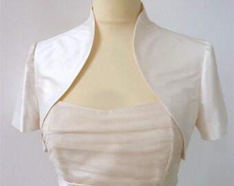 bridal bolero silk