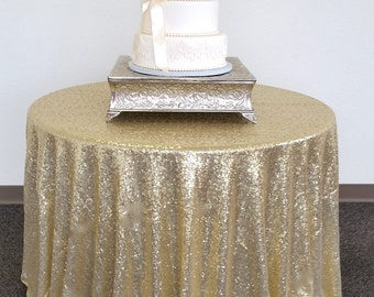 Sparkly Light Gold Glitz Sequin Table Cloth, Sequin Tablecloth, Glitz Tablecloth, Sequin Cake Tablecloth