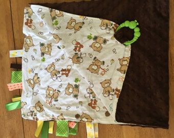 Deluxe Take-a-Long Blanket - Brown/Bears
