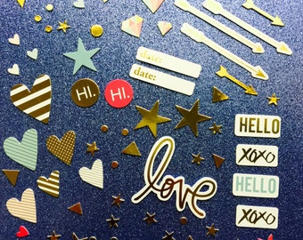 Foil Chipboard Embellishments (Heidi Swapp/Project Life)
