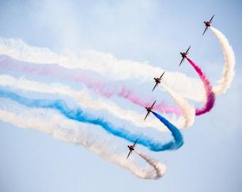 Best Of British, Red Arrows, RAF, Royal Air Force, Waddington, Airshow, Plane, Aviation, Aircraft, Flight, Print, Fine Art, Photo