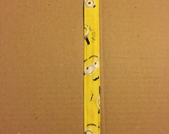 Yellow Minions Pacifier Clip